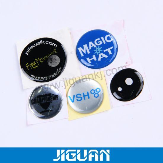 Crystal Bubble Gel Vinyl Logo Decal Epoxy Dome Sticker