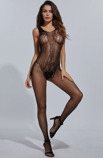 Sexy Women Black Transparent Lady in Lingerie