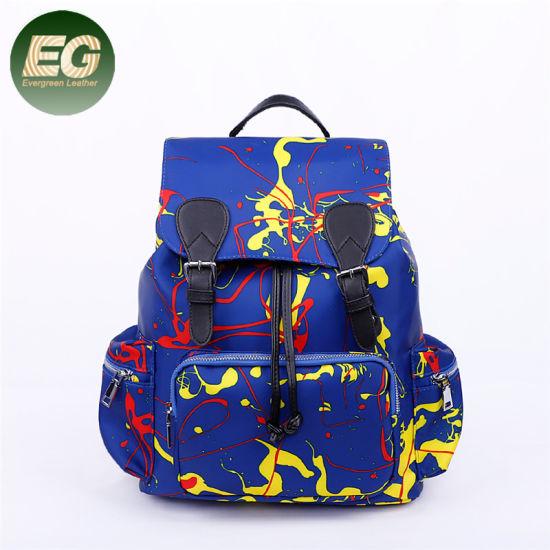 Women Nylon Graffiti Backpack Korean Version Travel Backpacks Bag Sh835