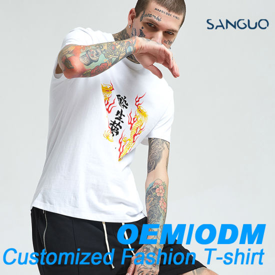 Factory Customized Printing 100% Cotton T-Shirt