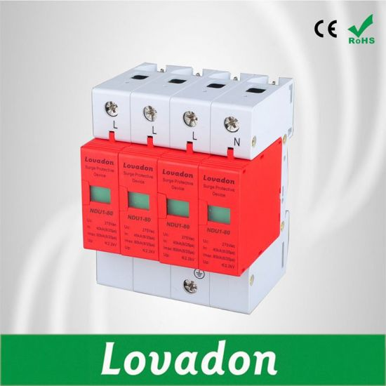 Class B Ligtning Current Arrester Power Supply Surge Protection Device pictures & photos