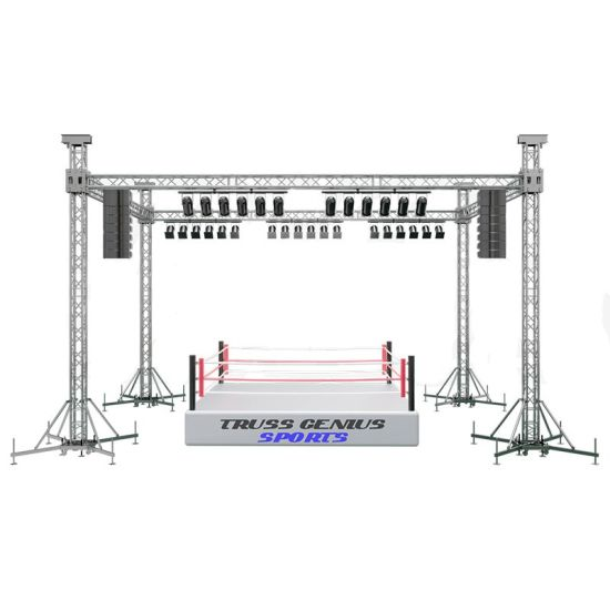 Aluminum Concert Small Lighting Roof TUV Certified Aquare Moving Exhibition Truss System Speaker Truss for LED Screen