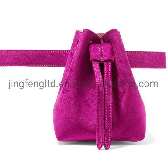 Fancy Fashion Lady Fuschia Bucket Crossbody and Waist Belt Bag pictures & photos