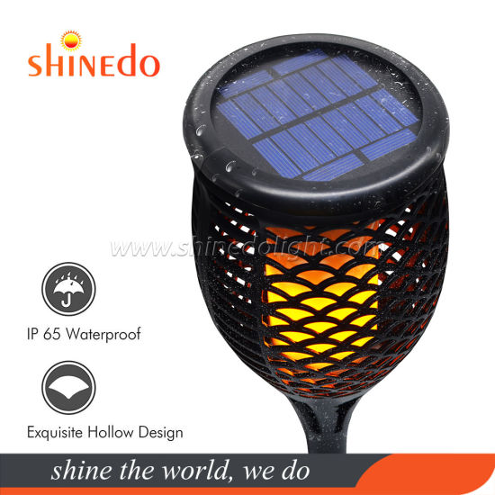 Newest Solar Dancing Flickering Flame Torch Light for Garden Patio Deck Yard Driveway