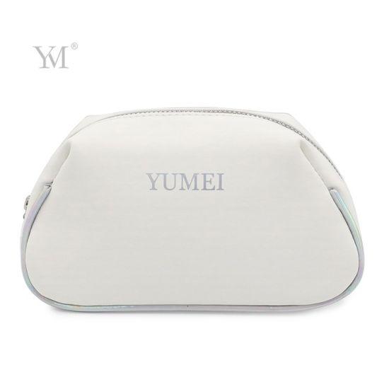 Shell Shape Ladies PVC Leather Cosmetic Bag for Women Eyelash Organizer