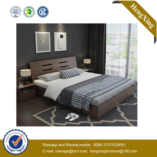 Durable Hotel MDF Queen Children Bed Wooden Bedroom Furniture UL-9be159