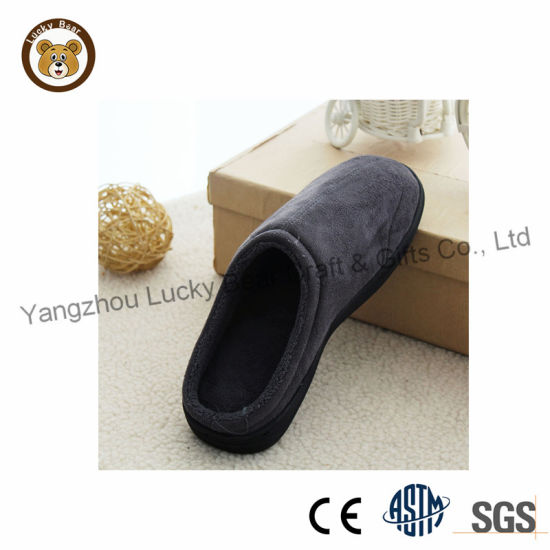 China Walmart Hotsale Adult Men Bedroom Slipper Shoes China Indoor Slippers And Lady Slippers Price