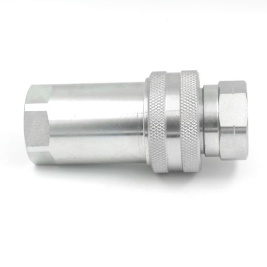 1 Inch Bsp NPT Female Thread Carbon Steel Hydraulic Hose Quick Connect Coupling for General Purpose Applications