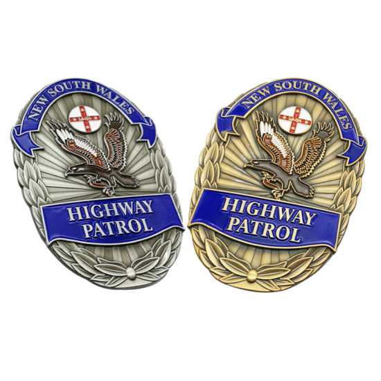 Promotional Items Factory Lapel Pin Enamel Metal Custom Security Police Badges