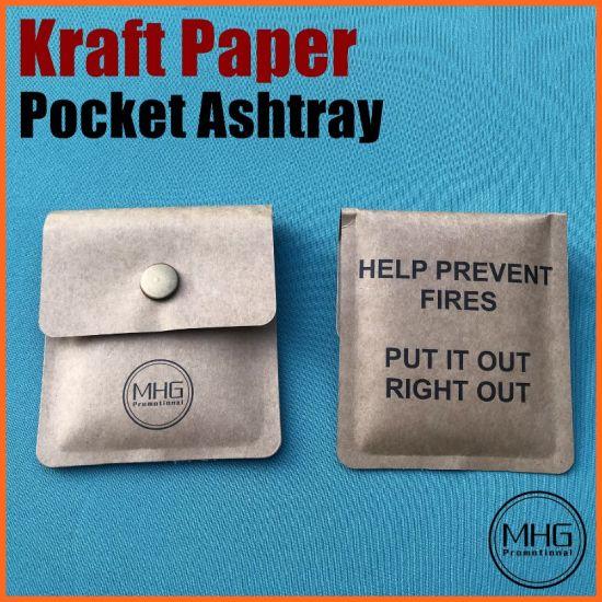 Kraft Paper Cigarette Stub Pocket Ashtray