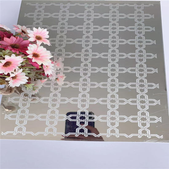 China Etched Stainless Steel Decoration Rose Gold Mirror Etching Stainless Steel Wall Panel China Steel Stainless Steel