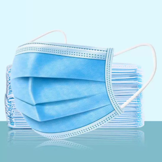 3 Layers of Non-Woven Disposable Civil Face Shield Protective Mask