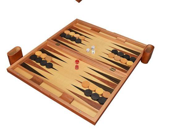 Classic Solid Wood Backgammon Set Travel Folding Backgammon