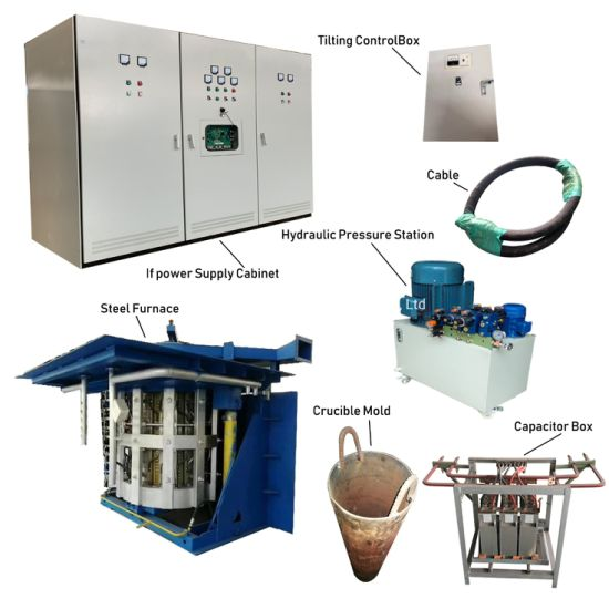 Kgps Induction Power Supply Heater with Steel Shell Melting Equipment for Metal Smelting