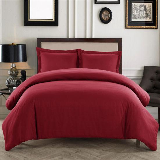 Luxury 400TC Duvet Cover Set 100/% Egyptian Cotton Plain Dyed Pillowcase Bedding