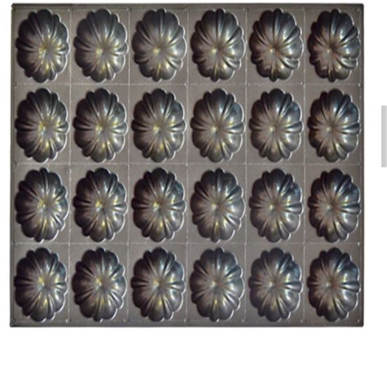 Bundt Cake Industrial Non-Stick Baking Pan 24 Multi-Link Cake Mold of Flower and Shaped Bakeware for Cake Pan Baking Tray