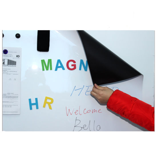 Rubber Magnet Sheet with Double Sided Tape or PVC Customization