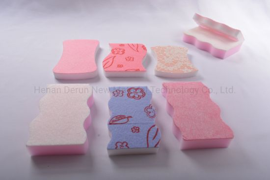 Non-Woven and Magic Sponge Kitchen Cleaning Eraser Sponge