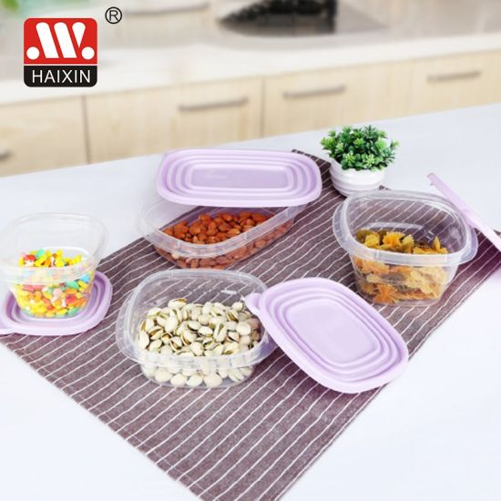 Food Grade Microwavable Takeaway Clear Recycled Plastic Fruit Single Food Container for Kitchen Food Packaging