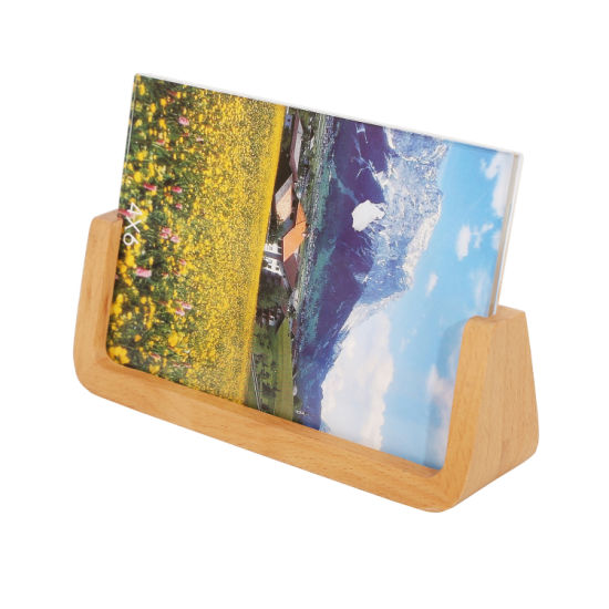 U-Shaped Solid Wooden & Acrylic Photo Picture Frame Creative Table Simple Photo Frame