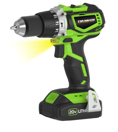 20V Brushless Motor Lion Cordless Drill with Hammer Function pictures & photos