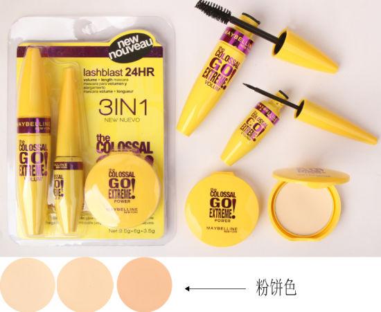 Washami 3 in 1 Cosmetic Set Best Selling Mascara & Eyeliner & Make up Powder