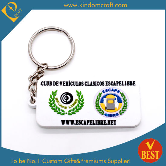Custom Wholesale Cheap Rubber/PVC Keychains for Promotion