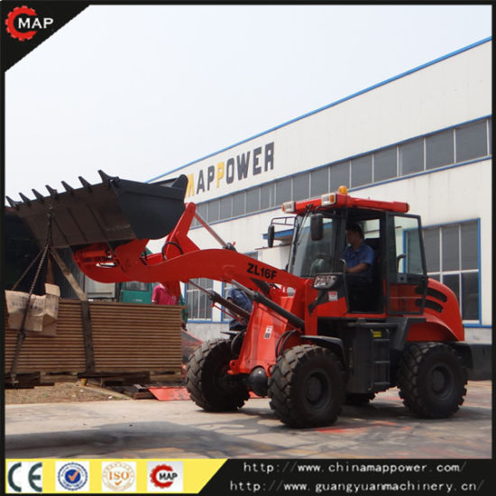 Factory Supply 1.6 Ton Zl16 Wheel Loader with Pallet Fork pictures & photos