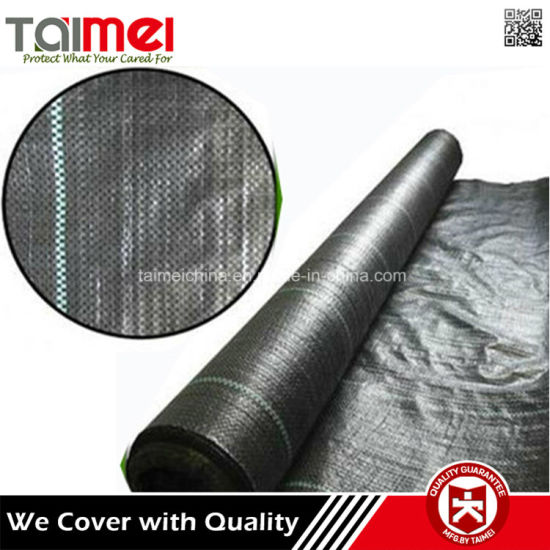 China Factory Supply Black and Green PP Woven Weed Mat pictures & photos