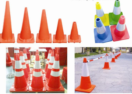 Various Fluorescent Colors Reflective PVC Traffic Cone