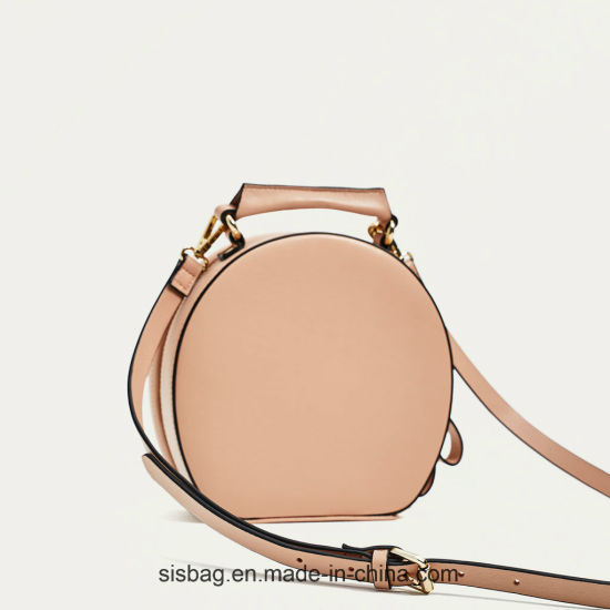New Fashion Embroidery Oval Shape Leisure Women Handbag pictures & photos