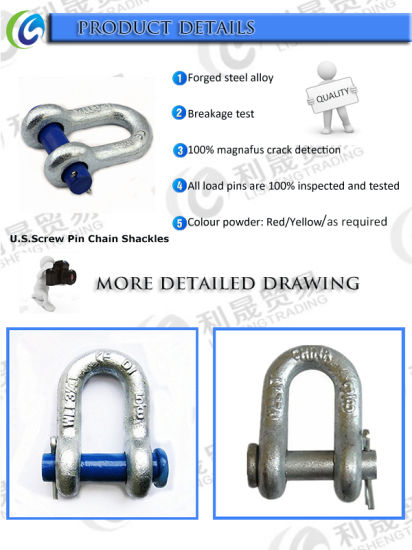 Top Quality Anchor & Chain Shackle Rigging pictures & photos