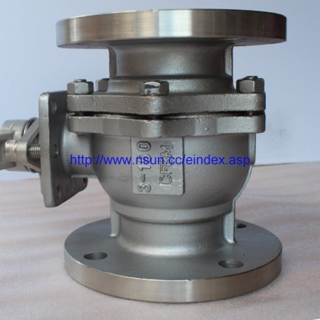 Industrial Carbon Steel Stainless Steel Full Port SS304 SS316 CF8 CF8m Manual Ss Flanged 2PC Floating Ball Valve Kitz
