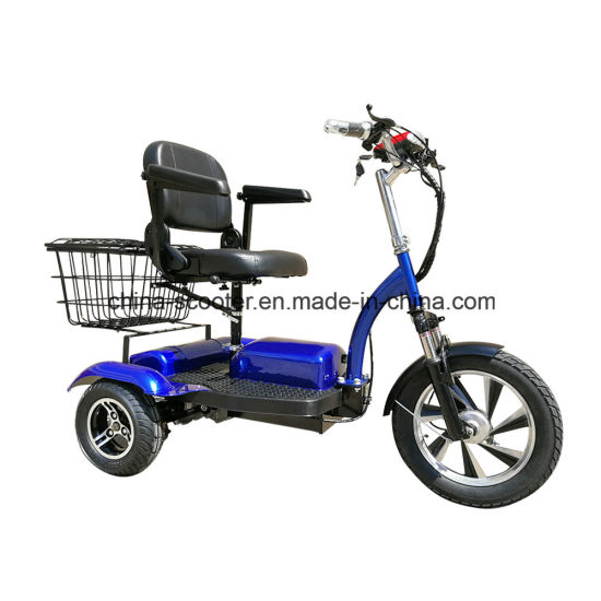500W Stronger Climbing Electric Tricycle Scooter with Bigger Battery and Basket