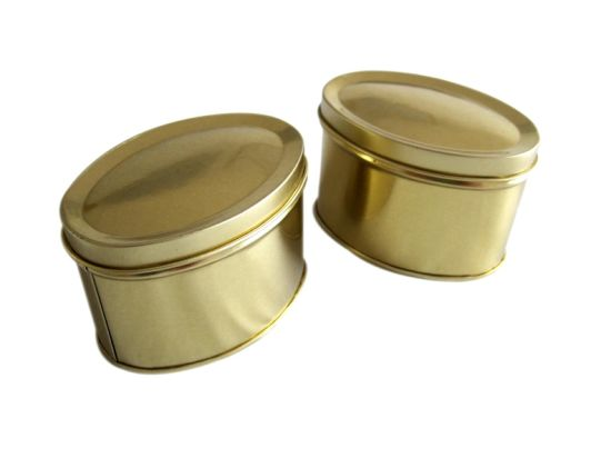 Oval Tin Box (X79)