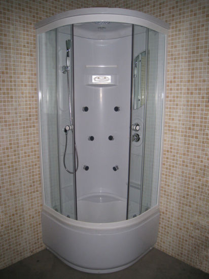 China Deep Tray Small Round Gl Cabin Steam Shower Cubicle Enclosures Bathroom