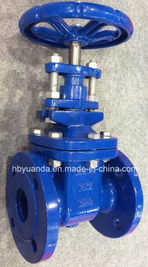 China BS 5163 pn10/pn16 Cast iron gate valves flanged pictures & photos