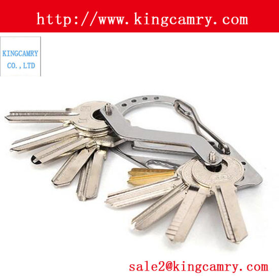 Stainless Steel Keychain Buckle Hanging Padlock Hiking Carabiner Snap Hook pictures & photos