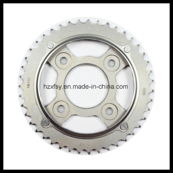 1045/Q235 Steel Rear and Front Motorcycle Sprocket Kit for Honda pictures & photos