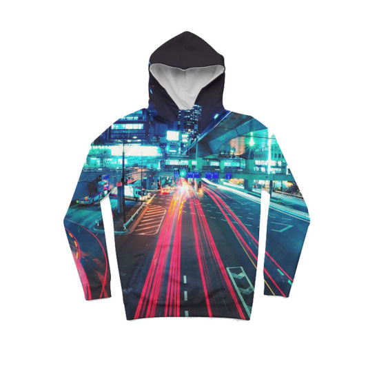 3D Digital Printing Sports Hoodie with USA Size