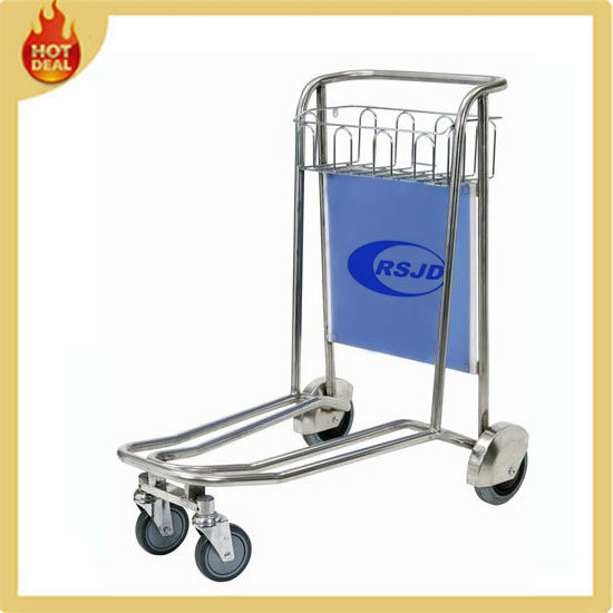 4 Wheels Stainless Steel Airport Hand Cart Trolley (GW2) pictures & photos
