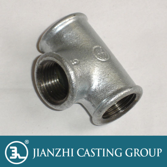 Galvanized Malleable Iron Tee Fitting pictures & photos