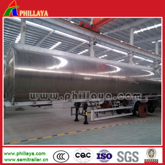 3 Axle 30cbm 35cbm 40cbm 50cbm Aluminum Oil Fuel Tanker Semi Trailer pictures & photos