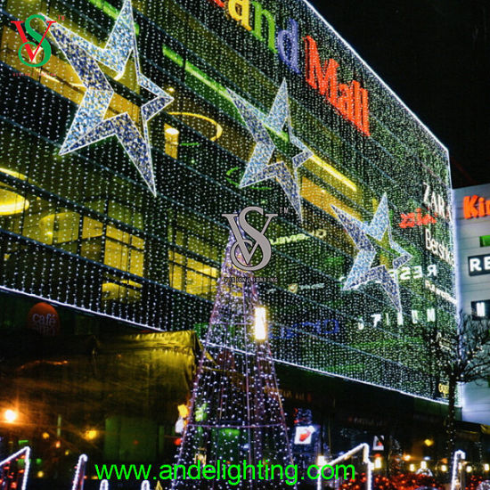 dia 1m christmas lighted star wall ornament decoration light