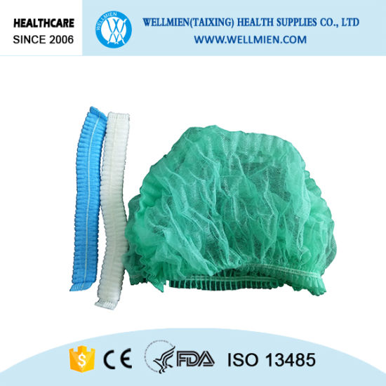 Nonwoven Clip Cap Hospital Surgical Bouffant Cap pictures & photos