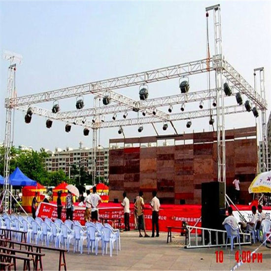 Aluminum Stage Outdoor Strong Load Weight Screw Square Performance Show Spigot Truss pictures & photos