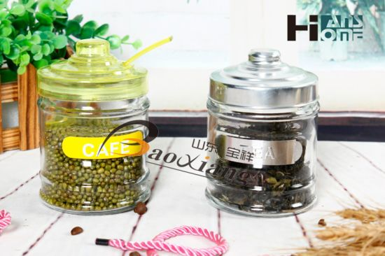 Three Size Kitchen Medium Capacity Condiment Glass Bottle with Beautiful Lid or Aluminum Cap pictures & photos