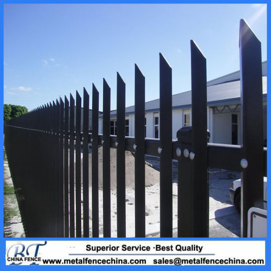 High Security Powder Coated Steel Angle Palisade Fencing