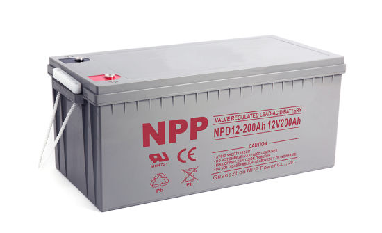 Npp Npd12-200ah Maintenance Free AGM Deep Cycle Sealed Lead Acid Rechargeable Storage Battery for off-Grid Solar System, RV, Marine, Boat, UPS