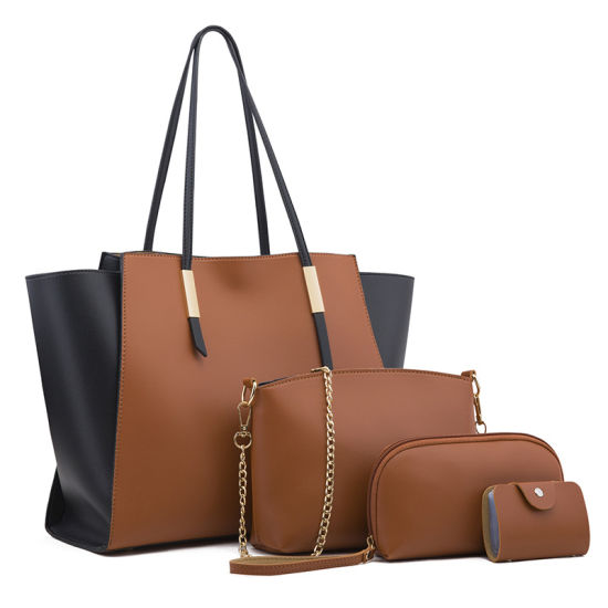 Stitching Ladies Dual-Purpose Picture-and-Mother Large-Capacity Portable Diagonal Shoulder Bag Mommy Bag
